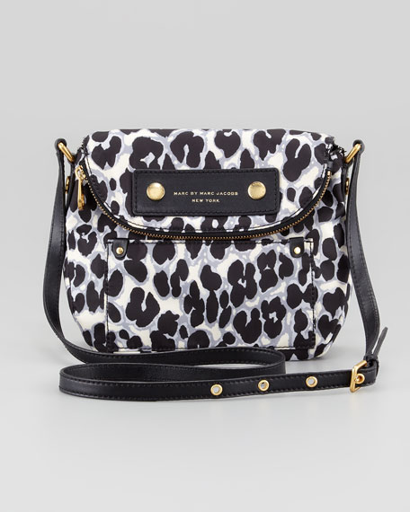 Preppy Nylon Natasha Leopard-Print Mini Bag