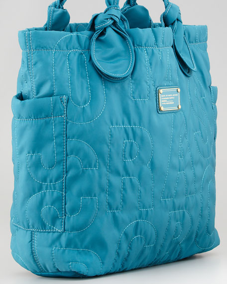Pretty Nylon Tate Medium Tote Bag, Teal