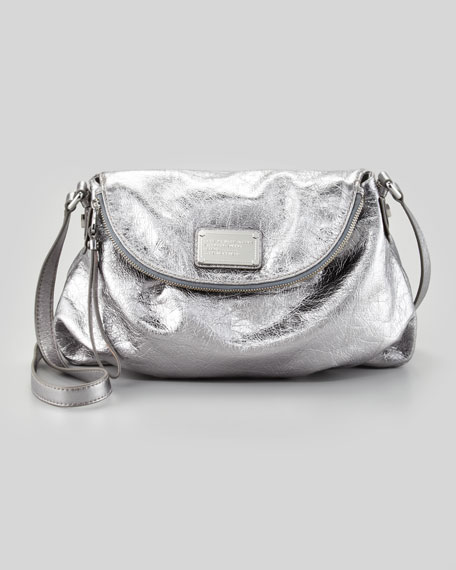 Classic Q Natasha Crossbody Bag, Metallic Gray