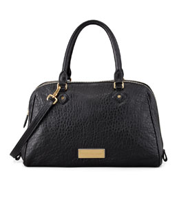 MARC by Marc Jacobs Washed Up Lauren Leather Satchel Bag, Black