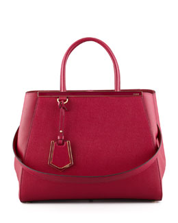 Fendi 2Jours Medium Tote Bag, Cherry