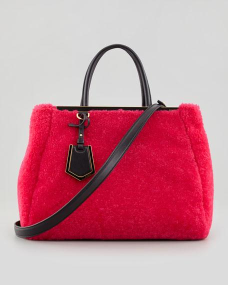 6cd0854c9f Fendi 2Jours Medium Shearling Fur Tote Bag