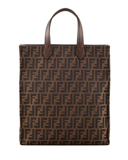 Fendi Zucca Shopping Tote Bag, Brown
