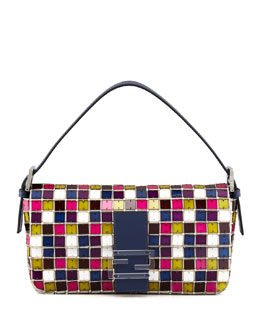 Fendi Multicolor Mosaic Medium Baguette B