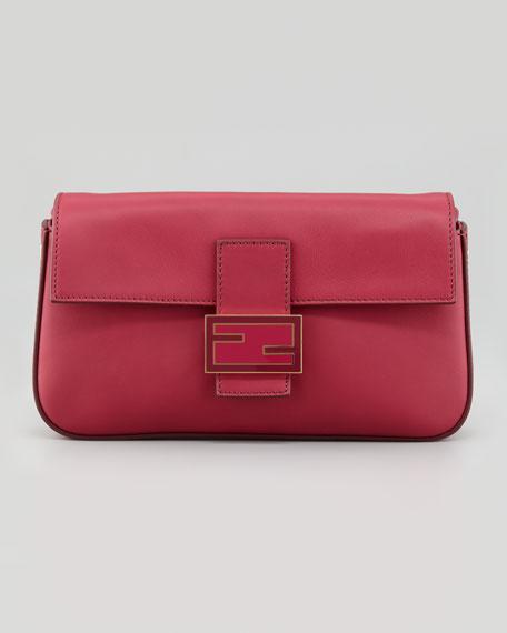 Baguette Medium Leather Bag, Cherry