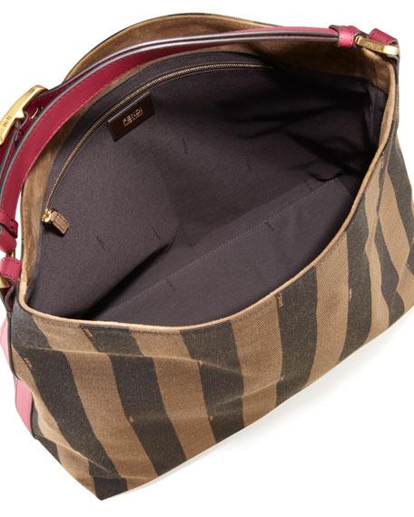 Pequin Borsa Hobo Bag, Fuchsia/Brown