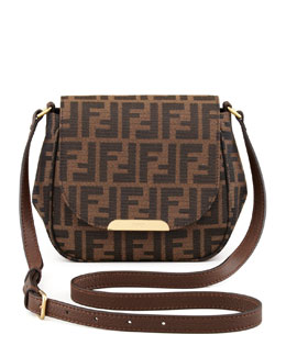 Fendi Zucca Small Crossbody Bag, Brown