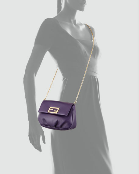 Fendista Pochette Crossbody Bag, Purple