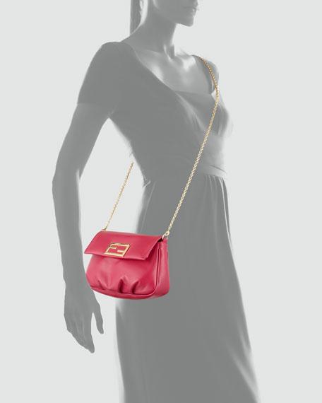 Fendista Pochette Crossbody Bag, Fuchsia