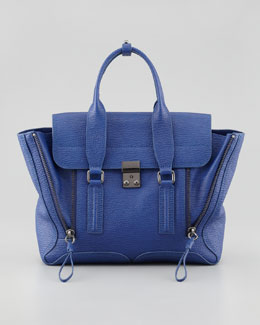 3.1 Phillip Lim Pashli Medium Satchel Bag, Cobalt