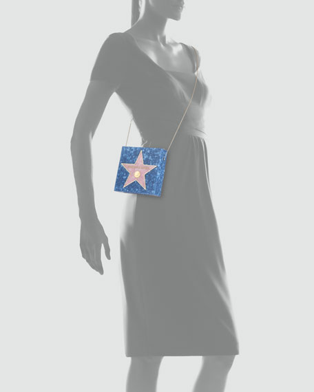 Walk of Fame Matchbox Clutch Bag, Blue