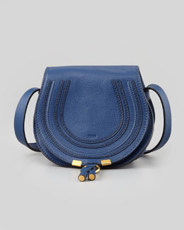 Chloe Marcie Small Crossbody Satchel Bag, Navy