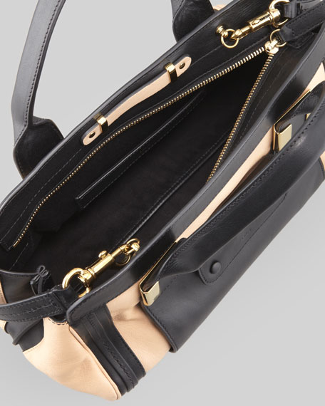 Alice Small Satchel Bag, Beige