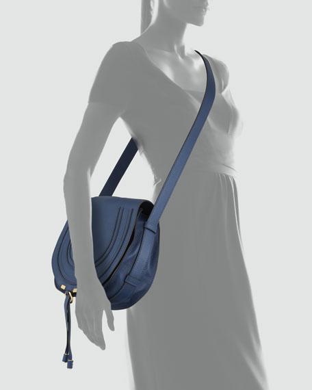 00ba0a8aaac Chloe Marcie Medium Leather Crossbody Bag, Navy
