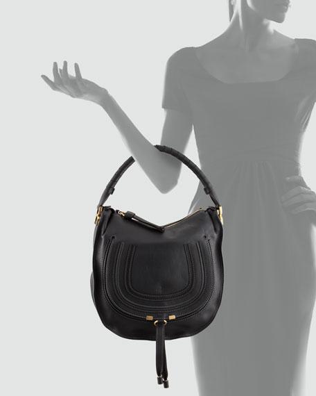 66ca52da8 Chloe Marcie Medium Hobo Bag, Black