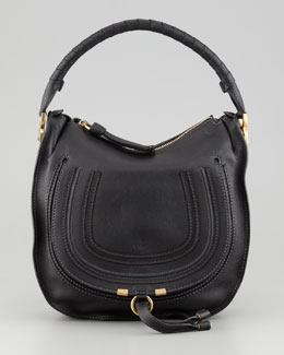 Chloe Marcie Medium Hobo Bag, Black