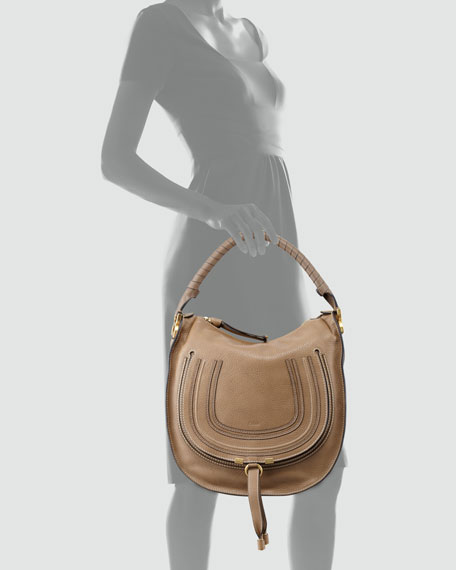Marcie Medium Hobo Bag Tan