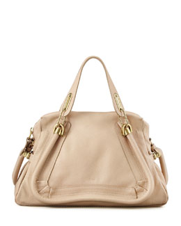 Chloe Paraty Medium Shoulder Bag, Beige