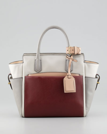 Atlantique Mini Tote Bag, Gray/Auburn