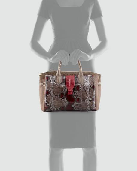 Crocodile, Python & Calf Hair Tote Bag