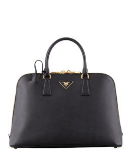 Prada Saffiano Medium Promenade Bag, Black