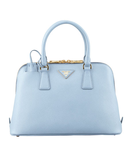 Saffiano North/South Dome Bag, Blue