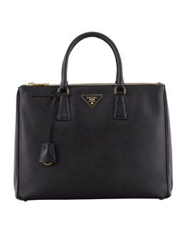 Prada Saffiano Executive Tote Bag, Black