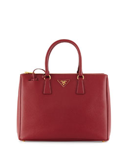 Prada Saffiano Executive Tote Bag, Cerise