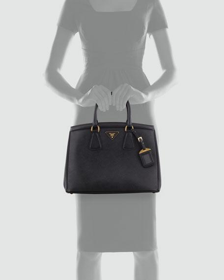 Saffiano Parabole Tote Bag, Black