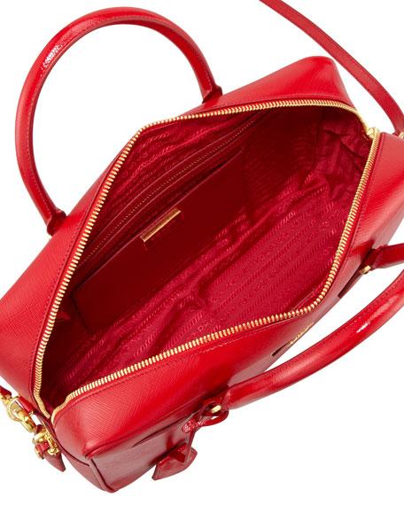 Saffiano Vernice TV Bag, Red
