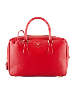 Prada Saffiano Vernice TV Bag, Red