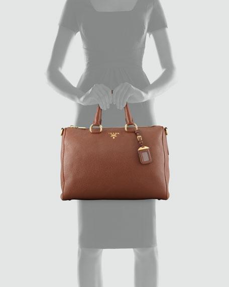 Daino Zip-Top Tote Bag, Brown (Palissandro)