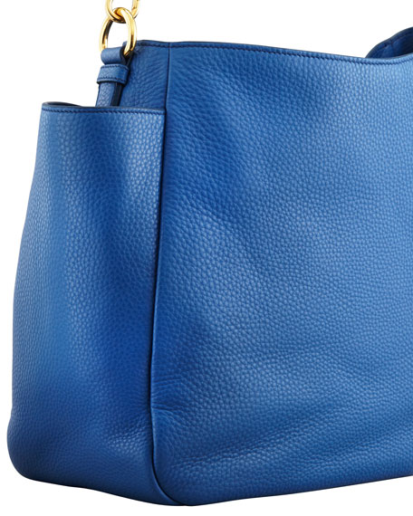 Daino Double-Pocket Hobo Bag, Blue