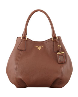Prada Daino Medium Shoulder Tote Bag, Brown