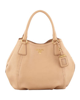 Prada Daino Medium Shoulder Tote Bag, Beige