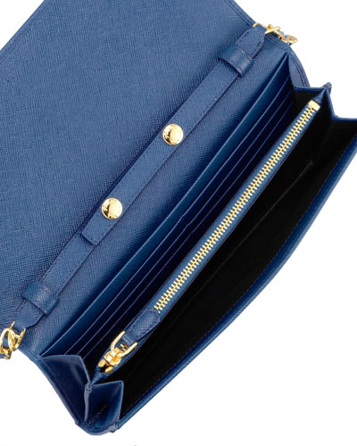 prada nylon wallets women - prada saffiano bicolor wallet-on-a-chain, knockoff handbags ...