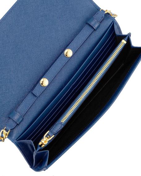 b3328c9c5b2d85 Prada Saffiano Wallet Bluette | Stanford Center for Opportunity ...