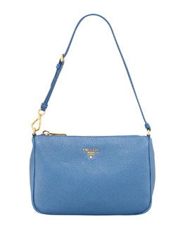 Prada Daino Small Shoulder Bag, Blue
