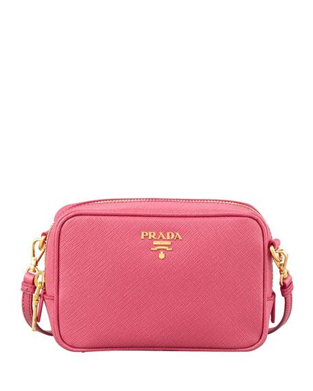 cfe9a2f2 Saffiano Mini Zip Crossbody Bag Pink
