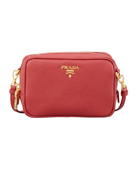 red and grey prada sneakers - Prada Saffiano Mini Zip Crossbody Bag, Black (Nero)