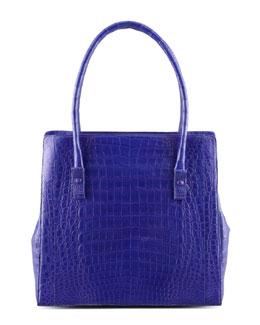 Nancy Gonzalez Crocodile Shoulder Tote Bag, Purple