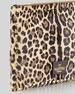 Rockstud Leopard-Print Calf Hair Clutch Bag, Brown