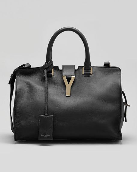 Y-Ligne Cabas Mini Leather  Bag, Black