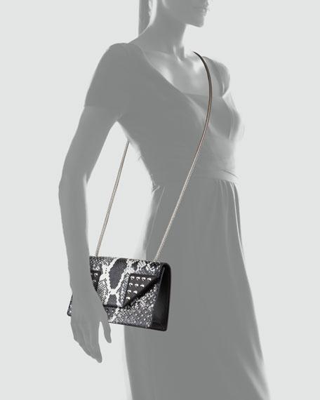 Borsa Betty Mini Python Shoulder Bag