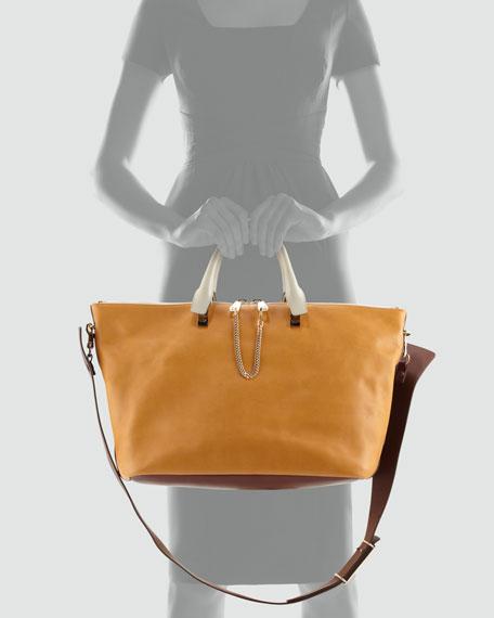 Baylee Large Shoulder Bag, Brown