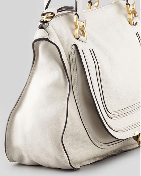 Marcie Large Shoulder Bag, Off White
