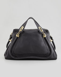 Chloe Paraty Large Shoulder Bag, Black