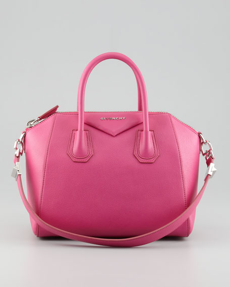 Antigona Small Sugar Satchel Bag, Pink