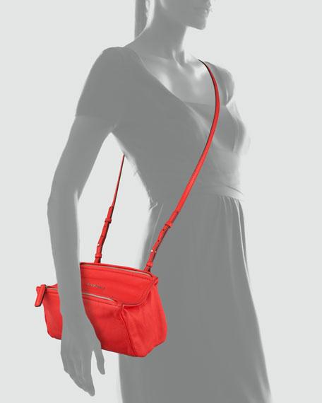 Pandora Sugar Leather Crossbody Bag, Red