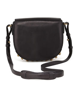 Alexander Wang Lia Small Leather Crossbody Bag, Black